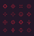 crosshairs set elements for interfaces vector image vector image