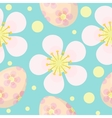 Cute Easter seamless pattern with eggs and flowers vector image vector image