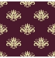 Dainty floral purple and beige seamless pattern vector image vector image