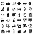 device icons set simple style vector image