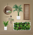 eco-minimalist furniture vector image vector image