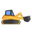 excavator icon cartoon style vector image