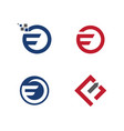 F letter faster logo template