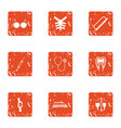 flesh icons set grunge style vector image vector image