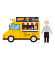 food truck hamburgerhot dog street food vector image vector image
