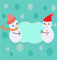 greeting card with Christmas Frame - vector image vector image