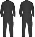 grey repairman uniform vector image vector image