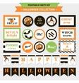 Halloween printable set vector image