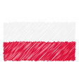 hand drawn national flag of poland isolated on a vector image vector image