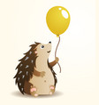 hedgehog with balloon vector image vector image