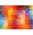 horizontal multicolor polygonal banner vector image vector image