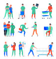 hospital flat icons set vector image vector image