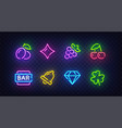 isolated game icons for casino icon from slot vector image vector image