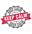 keep calm stamp sign seal vector image vector image