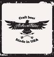 label craft beer vector image vector image