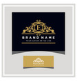 letter e logo design concept royal luxury gold vector image vector image
