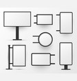lightboxes variety stand wall mounted blank vector image vector image