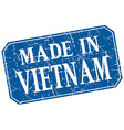 made in Vietnam blue square grunge stamp vector image vector image