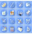 Medicine icons set flat vector image