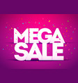 megasale poster bold letter with colorful confetti vector image vector image