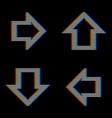 mobilevhs glitch set arrows in retro style vector image vector image