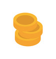 money coins advertising commerce marketing icon vector image