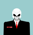Mr Deadline Death of a businessman in a suit vector image