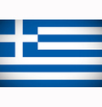 national flag greece vector image vector image