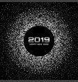 new year 2019 card background glitter confetti vector image