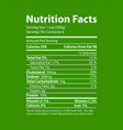 nutrition facts informative green promo poster vector image