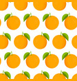 oranges pattern fresh oranges on white background vector image vector image