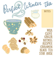 Perfect Winter Tea Recipe with cinnamon vector image vector image