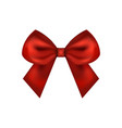 red gift bow ribbon vector image