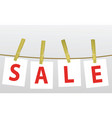 sale on the rope vector image vector image