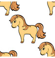seamless background animal object a horse a vector image vector image