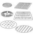 set of cover the drain vector image vector image