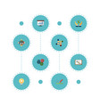 set of idea icons flat style symbols with meeting vector image