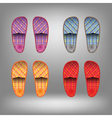 shoes for home vector image