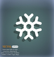 snowflake icon symbol on the blue-green abstract vector image