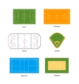 Sport fields marking for soccer basketball vector image vector image