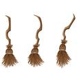 Stylish broom vector image