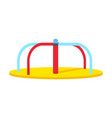 swinging round carousel for children s playground vector image