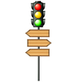 Traffic lights with arrowboards vector image vector image