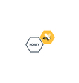 Trendy flat honey bee icon and logo vector image vector image