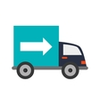 truck transportation delivery icon vector image vector image