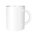 white mug vector image vector image