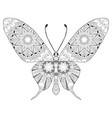 zentangle stylized butterfly hand drawn lace vector image vector image