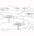 african savannah coloring book background nature vector image