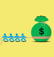 pull money business tug of war vector image