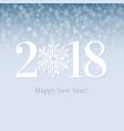 2018 happy new year postcard vector image vector image